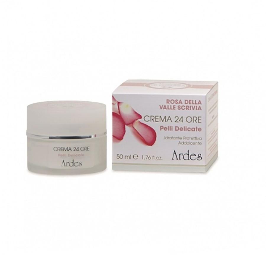 Крем защитный и смягчающий для чувствительной кожи 24 часа увлажнения с Розой