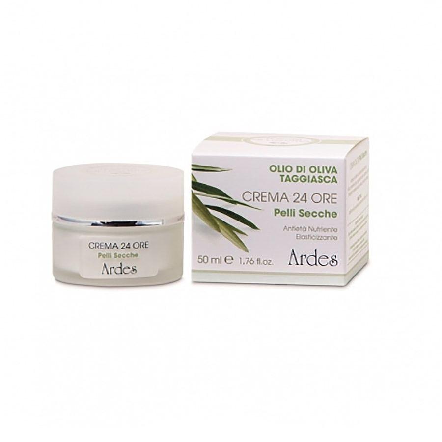 Крем  анти-возрастной питательный укрепляющий 24 часа для сухой кожи с Маслом оливок и Гиалуроновой кислотой