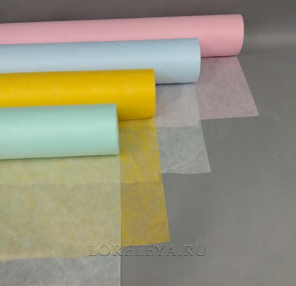 Простыни в рулонах, СМС 20г/м2, цвет: в ассортименте (50шт.)