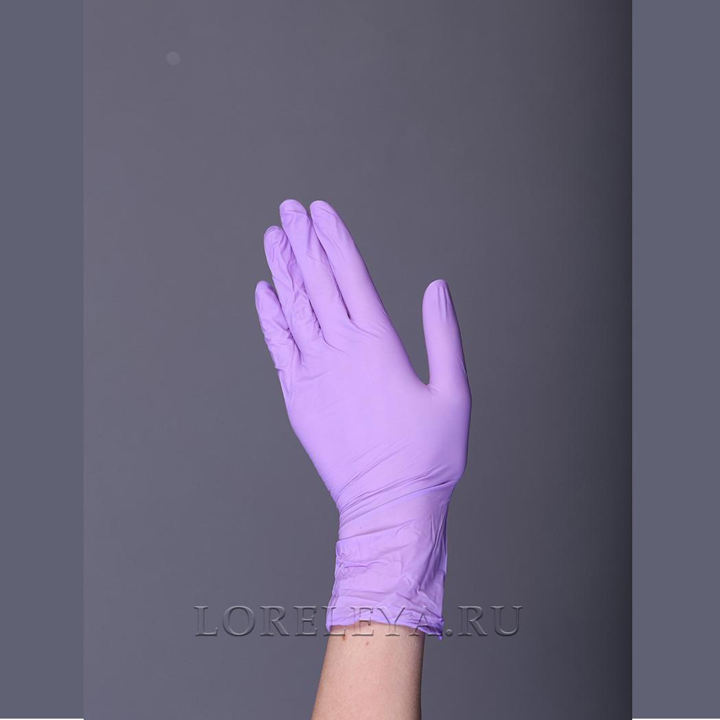 """Перчатки нитриловые """"BENOVY"""" СИРЕНЕВЫЕ (неопудренные), уп: 50 пар."""