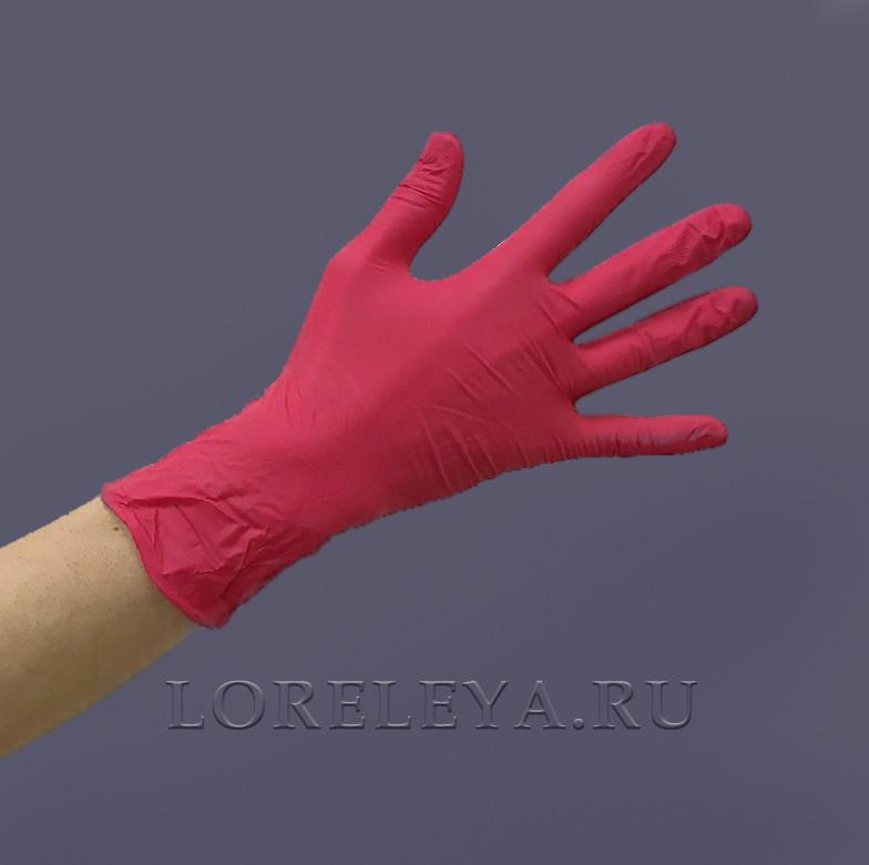 """Перчатки нитриловые """"MediOk"""" КРАСНЫЕ, уп: 50 пар."""
