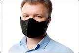 МАСКА защитная для лица  анатомической формы цвет чёрный , упаковка 10 шт