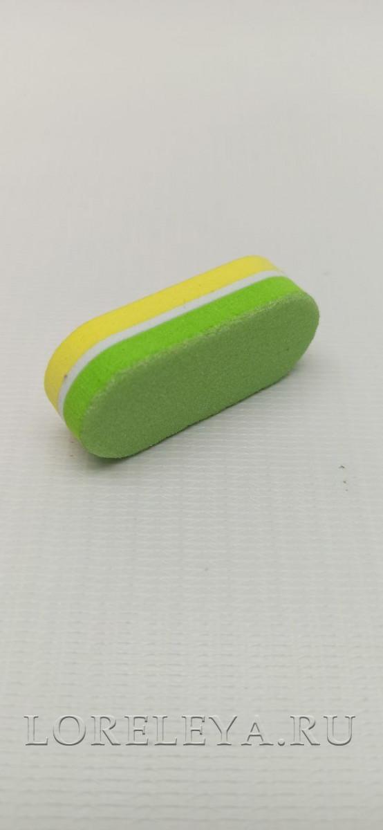 Мини баф-блок цветные овальные 180/240 ( уп.40 шт.)