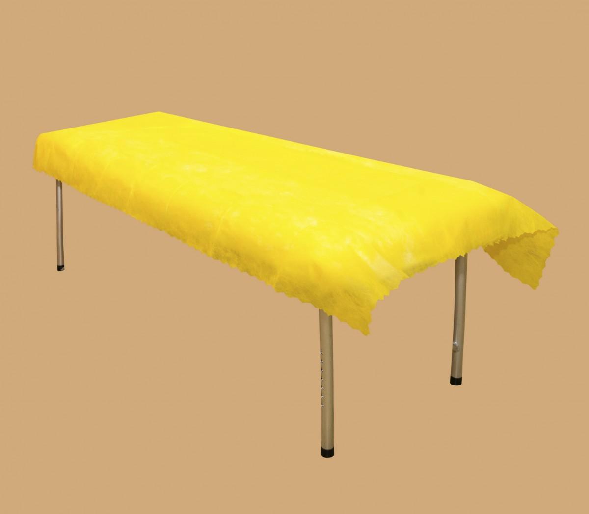 Простыня жёлтая  сложенная поштучно (10 шт)