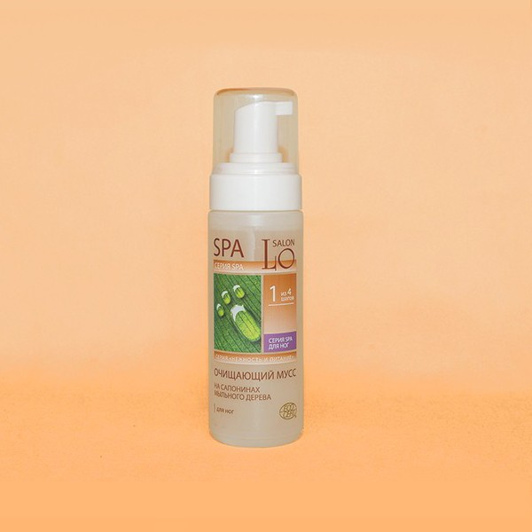 1 шаг. Очищающий мусс для НОГ на сапонинах мыльного дерева