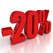 Скидка 20% при заказе на сумму от 10 000 руб