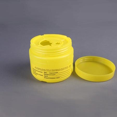 Емкость-контейнер для сбора острого инструментария (Класс Б) 0,5л