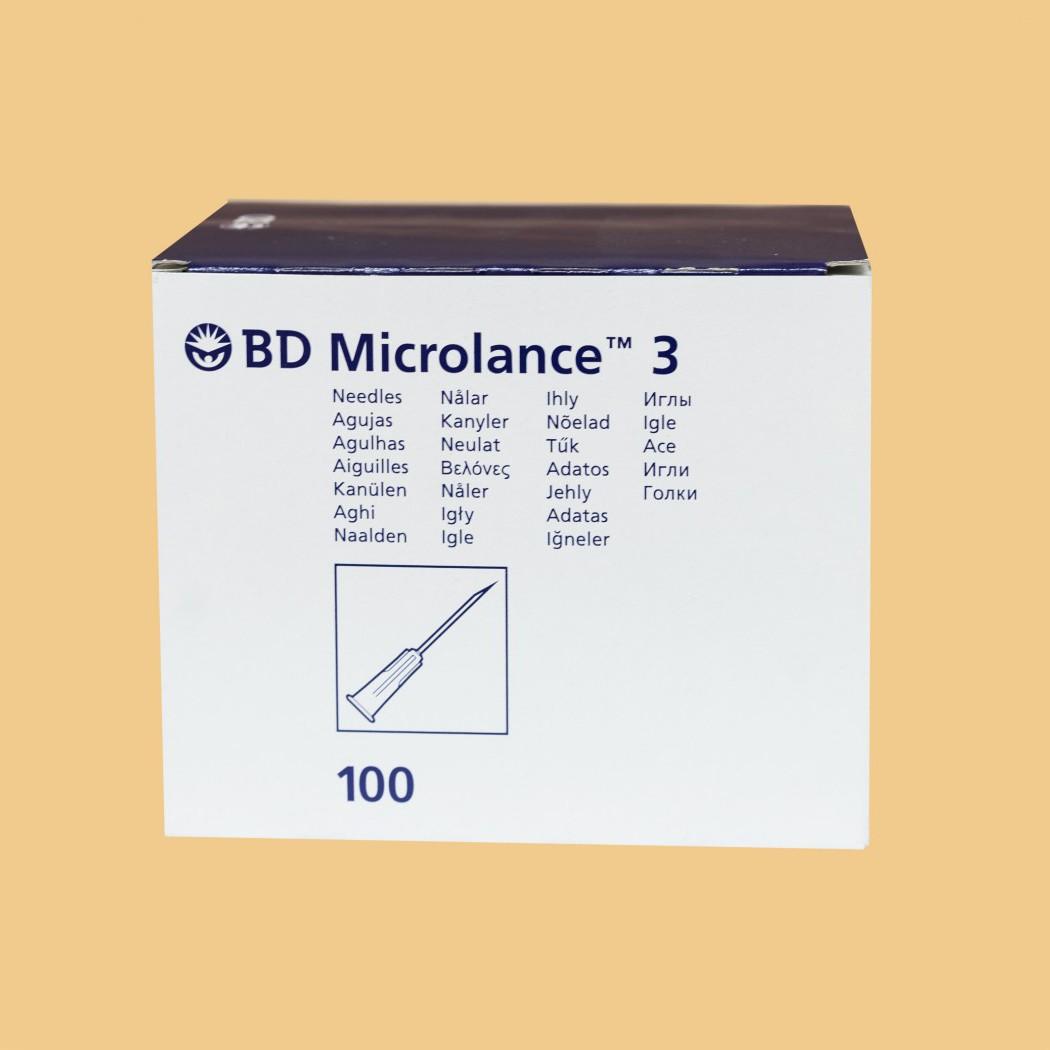 Игла (канюля) стерильная BD MICROLANCE 30G  0,3х13 мм стандартный срез, для мезотерапии