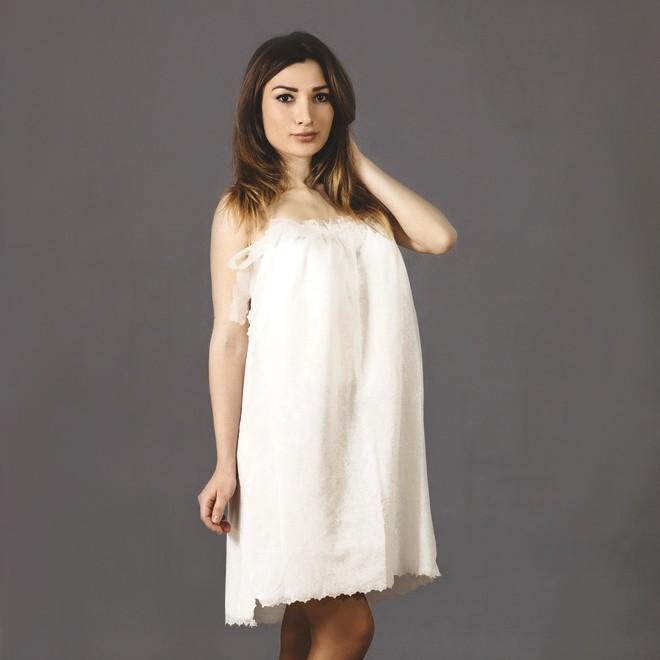 Пеньюар косметологический «Кружевница», спанлейс, цвет: белый