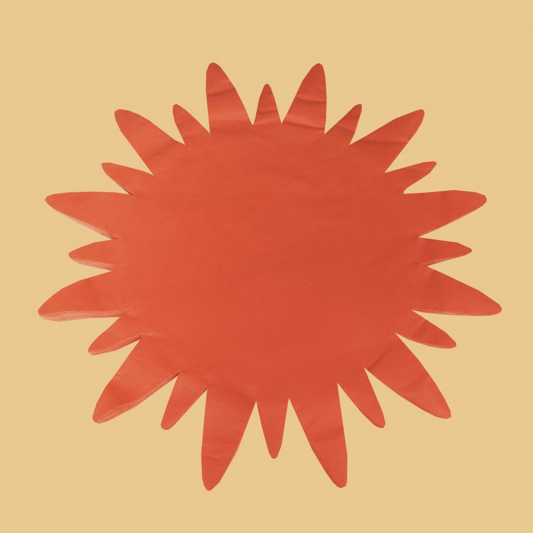 """Коврик """"Солнце"""", СПАНБОНД, цвет: в ассортименте (50 шт)"""