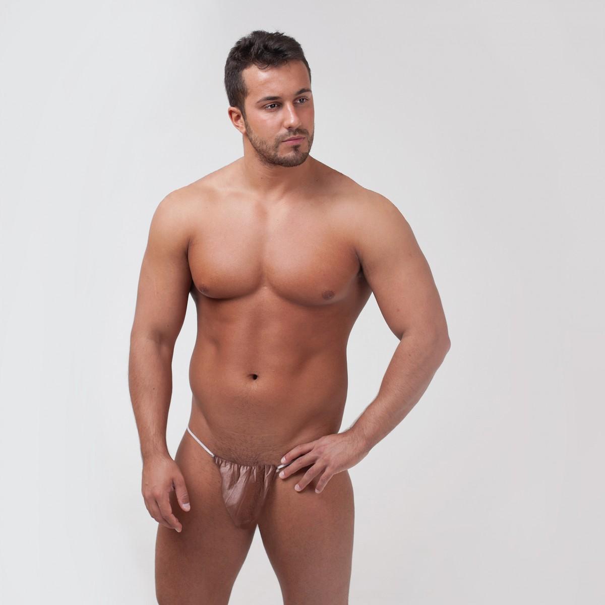 Трусы-бикини мужские, СПАНБОНД, цвет: в ассортименте