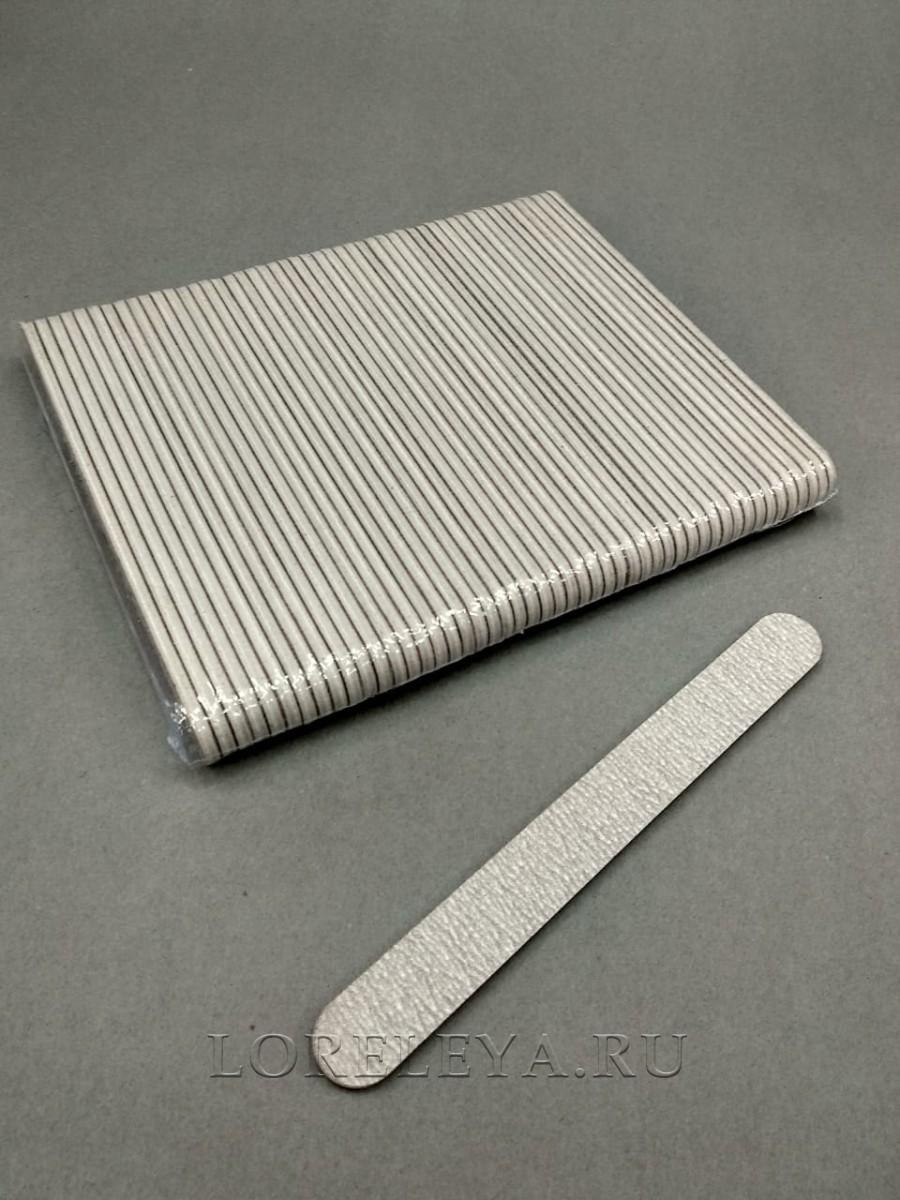Пилка 17 см серая для натуральных ногтей одноразовая , овальная 240/240  (уп.50 шт.)