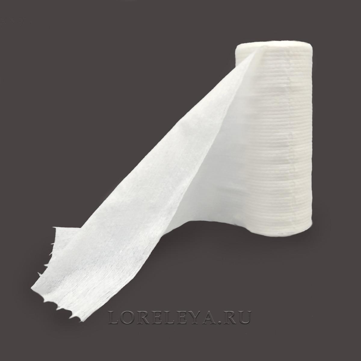Салфетки в рулоне, спанлейс (100 шт)