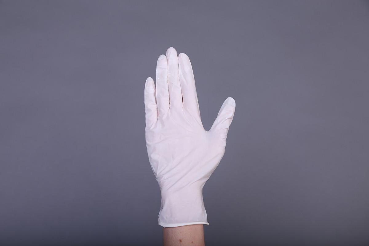 """Перчатки латексные """"MiniMax"""" смотровые НЕ СТЕРИЛЬНЫЕ гладкие (опудренные), уп: 50 пар"""