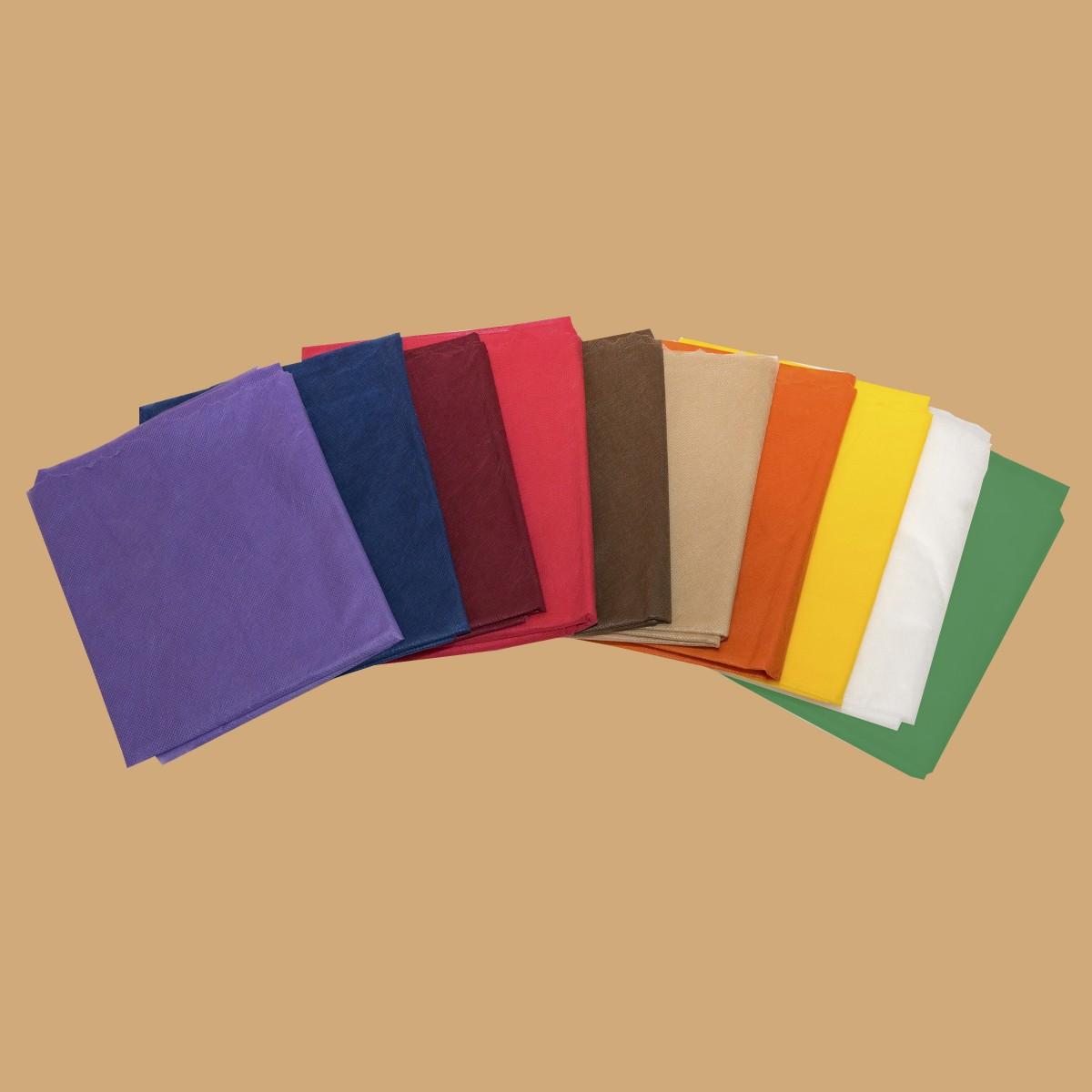 Простыни сложенные поштучно, спанбонд, цвет в ассортименте (10 шт)