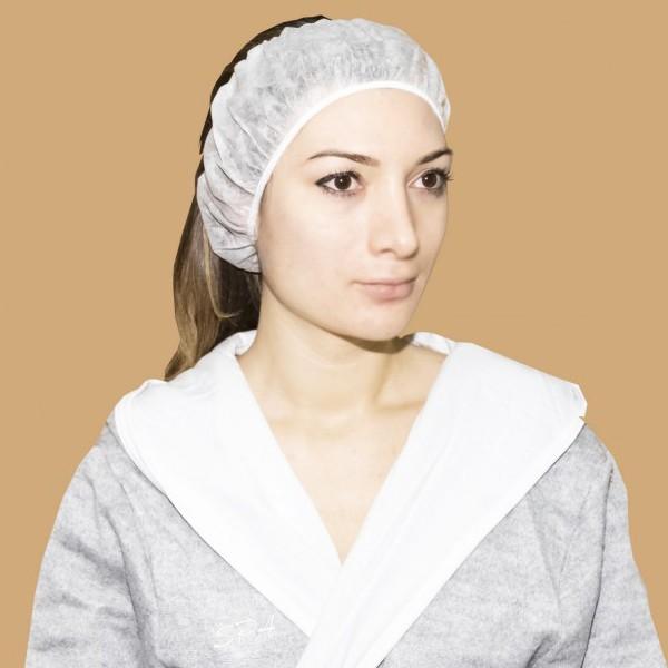 Повязка для волос спанбонд, белая (10 шт)