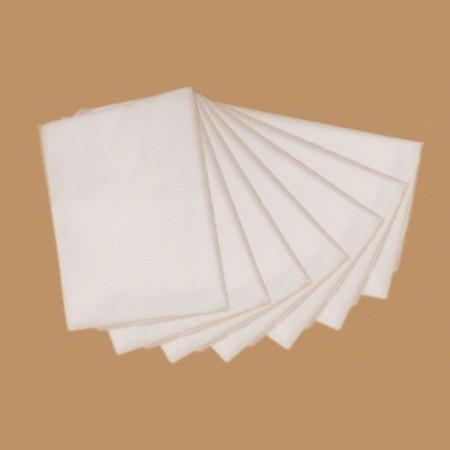 Простыни сложенные поштучно, спанлейс, белые (10 шт)